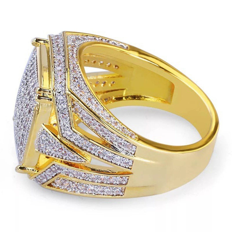 Hiphop Rock Gold Ring