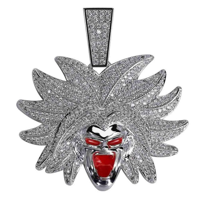 Iced Out Dragon Ball Broly Pendant