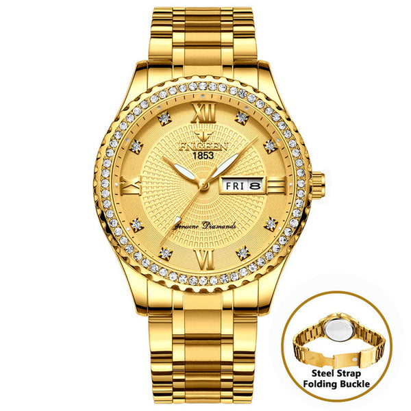 High Quality Big Diamond Watch Luxury Quartz