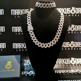 18mm Iced Prong Bundle Chain&Bracelet