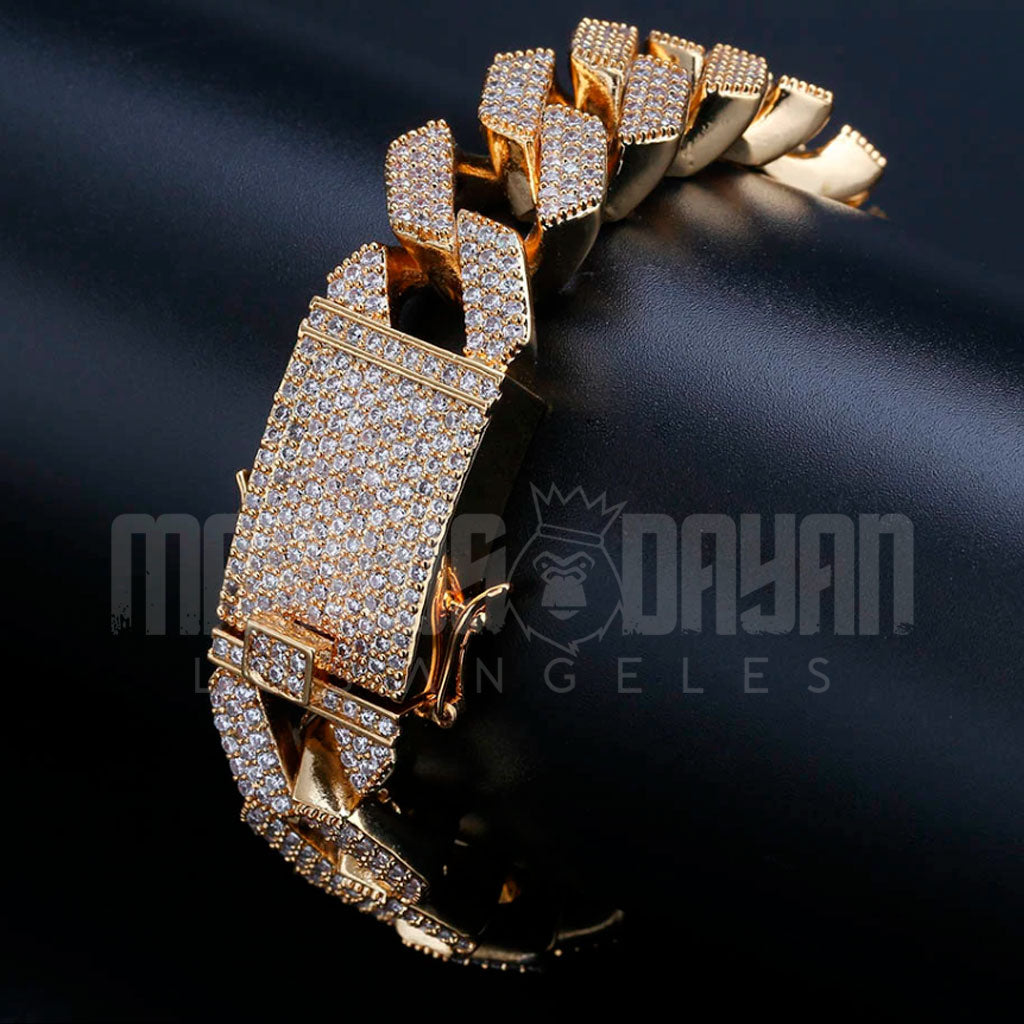 20mm Iced Out Cuban Prong Bracelet