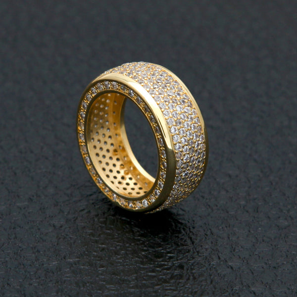 Iced Ring Zirconia Hip Hop 18k Gold