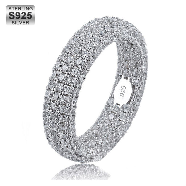 Sterling Silver Ring Full Iced S925