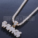 18K Gold Finish S925 Silver Iced Out  SAVAGE Pendant
