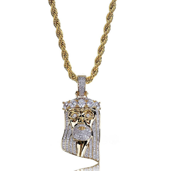 Iced Jesus Pendant 14K Gold Plated
