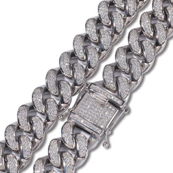 20mm Stainless Steel Silver Cuban Chain Bundle