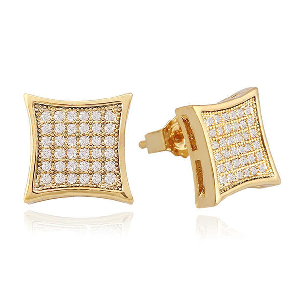 MarkusDayan Iced Square Stud Earrings
