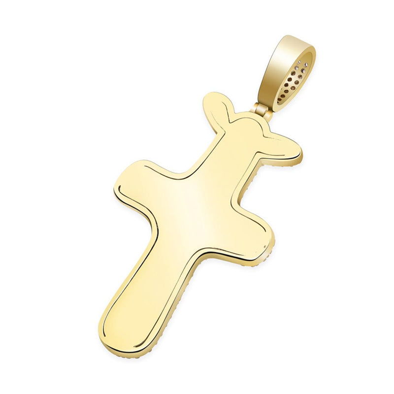 Iced Travis Scott Records Cactus Pendant 14k Gold Plated
