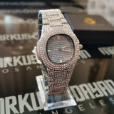 18K Gold Finish S925 Silver Iced Watch Quartz