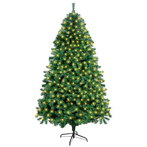 OurWarm Pre-Lit Christmas Tree 7ft Artificial Christmas Trees with Lights, UL-Certified 400 Lights for Holiday Decoration, 1300 Tips