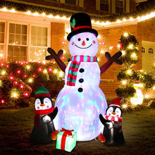 Load image into Gallery viewer, OurWarm 6ft Christmas Inflatables Christmas Decorations Outdoor, Inflatable Snowman Penguin Blow Up Yard Decorations with Rotating LED Lights for Indoor Outdoor Christmas Decorations Yard Garden Decor
