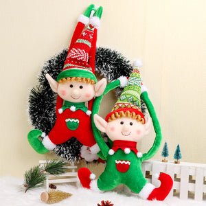 Christmas Decoration Elf Doll Plush Christmas Tree Hanging Ornament Merry Christmas New Year Kids Toys 2019 40x24cm