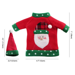 OurWarm Ugly Sweater Christmas Wine Bottle Cover 3 Style New Year's Bottle Cover Christmas Decoration On The Bottle