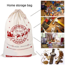 Load image into Gallery viewer, Ourwarm Christmas Large Santa Sack Felt Candy Gifts Bag Canvas Storage Bags Kids Christmas Decoration New Year 2019 50*70cm