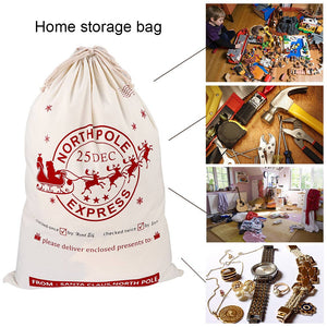 Ourwarm Christmas Large Santa Sack Felt Candy Gifts Bag Canvas Storage Bags Kids Christmas Decoration New Year 2019 50*70cm