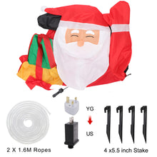 Load image into Gallery viewer, OurWarm 5ft Christmas Inflatables Greeting Santa with Light, Christmas Blow Up Yard Decoration for Christmas Yard Decoration Outdoor and Indoor Inflatables