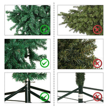 Load image into Gallery viewer, Aytai 7ft Hanging Upside Down Artificial Christmas Trees with 1000 Branch Tips, Green PVC Xmas Tree with Foldable Metal Stand for Indoor Outdoor Holiday Christmas Decorations
