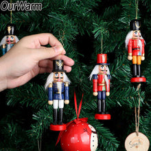 Load image into Gallery viewer, OurWarm 6pcs Christmas Russia Wooden Nutcracker Doll Christmas Tree Ornament Hanging New Year Gifts Christmas Party Decorations