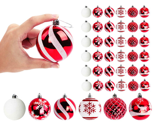 Aytai 36ct Christmas Ball Ornaments Shatterproof Christmas Tree Decorations Balls Small 70mm/2.76