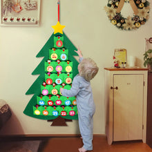 Load image into Gallery viewer, OurWarm Christmas Advent Calendar for Kids, 2020 24 Days Felt Christmas Tree Countdown Calendar Flip Pattern and Number for Home Holiday Christmas Decorations