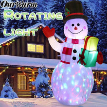 Load image into Gallery viewer, OurWarm 5ft Christmas Inflatables Blow Up Yard Decorations, Upgraded Snowman Inflatable with Rotating LED Lights for Christmas Decorations Indoor Outdoor Yard Garden Decorations