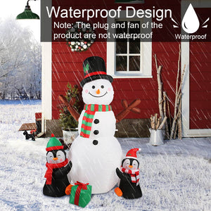 OurWarm 6ft Christmas Inflatables Christmas Decorations Outdoor, Inflatable Snowman Penguin Blow Up Yard Decorations with Rotating LED Lights for Indoor Outdoor Christmas Decorations Yard Garden Decor