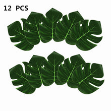 Load image into Gallery viewer, Nordic Artificial Fake Plant Palm Leaves Table Mat Tropical Hawaii Luau Summer Party Decoration