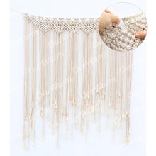 Load image into Gallery viewer, Macrame Curtain Tapestry Cotton Handmade Wall Hanging Backdrop DIY Rustic Wedding Party Decoration
