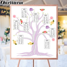 Load image into Gallery viewer, Wedding Seating Chart DIY Table Plan Tree Table Numbers Card Guest List Wedding Party Supplies