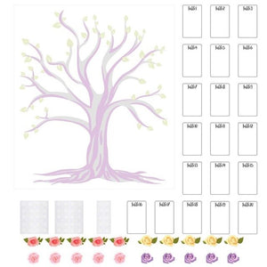 Wedding Seating Chart DIY Table Plan Tree Table Numbers Card Guest List Wedding Party Supplies