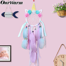 Load image into Gallery viewer, Unicorn Party Handmade Dream Catcher Party Favors Gift for Children Birthday Home Decoration