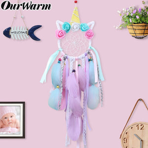 Unicorn Party Handmade Dream Catcher Party Favors Gift for Children Birthday Home Decoration