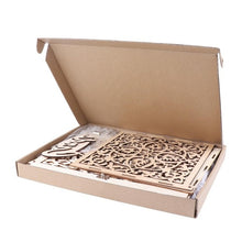 Load image into Gallery viewer, DIY Wedding Gift Card Box Wooden Money Box with Lock Wedding Birthday Party Decoration