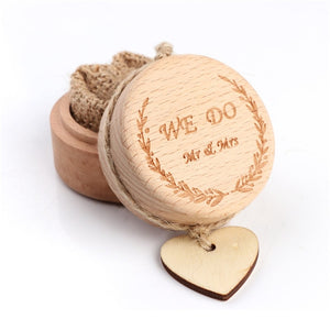 Wedding Wood Ring Bearer Jewellery Box Boite Cadeau Rustic Wedding Engagement Party Decoration