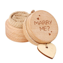 Load image into Gallery viewer, Wedding Wood Ring Bearer Jewellery Box Boite Cadeau Rustic Wedding Engagement Party Decoration