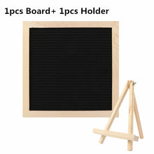 Load image into Gallery viewer, DIY Wood Felt Letter Characters Board With Holder Wedding Message Board Bar Sign Decoration