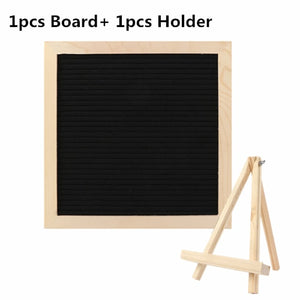 DIY Wood Felt Letter Characters Board With Holder Wedding Message Board Bar Sign Decoration