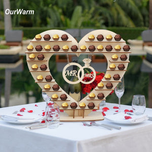 DIY Wooden Cake Macaron Candy Bar Stand Table Stand Rustic Wedding Party Favors Table Decoration