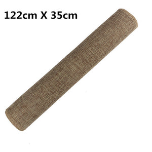 Natural Burlap Jute Lace Table Runner Cover Cloth Dinner Room Rustic Wedding Party Table Decoration