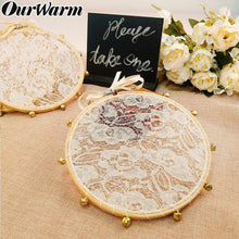 Load image into Gallery viewer, 3pcs Lace Tambourine Clapping Noise Maker Gifts for Guest Party Favors Boho Wedding Decoration