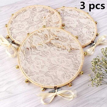 3pcs Lace Tambourine Clapping Noise Maker Gifts for Guest Party Favors Boho Wedding Decoration