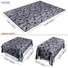 Load image into Gallery viewer, Halloween Black Lace Spiderweb Props Fireplace Mantle Scarf Table Cloth Cover Horror Party Decoration