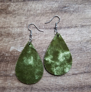 Velvet Wood Teardrop Earrings
