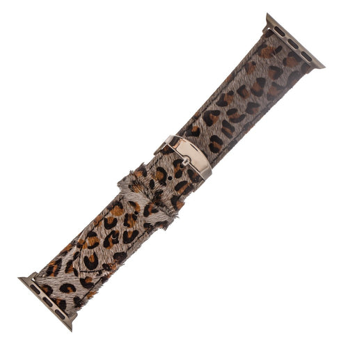 Genuine Leather Leopard Print Watch Band