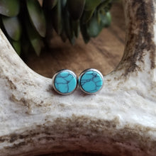 Load image into Gallery viewer, Genuine Turquoise Stone Studs