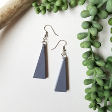 Load image into Gallery viewer, Wood Triangle Earrings