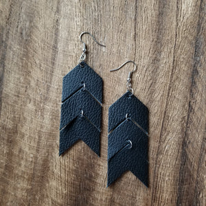 Black Chevron Earrings