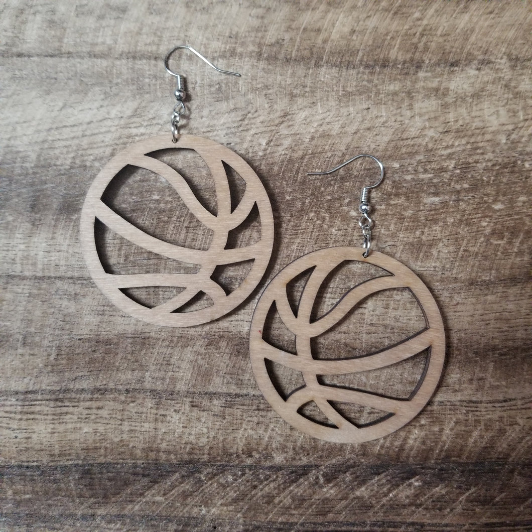 Volleyball Wood Earrings
