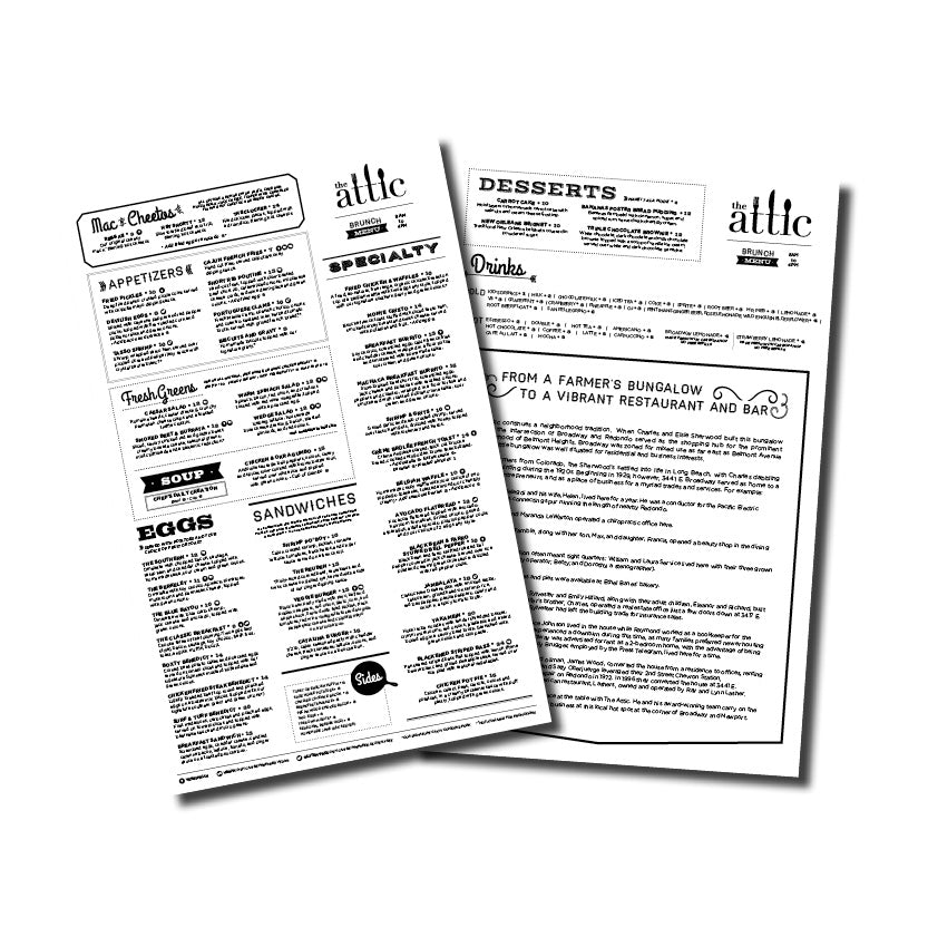 FREE Disposable Menus