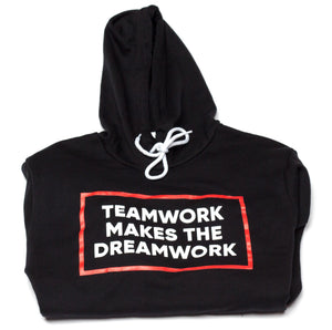 Teamwork Makes The Dreamwork Black Unisex Hoodies
